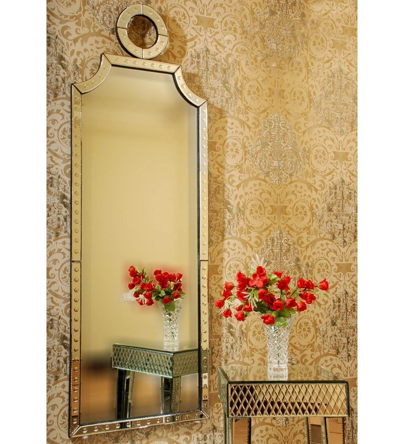 Silver MDF Mirror by Venetian Design