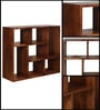 Trego Segmented Book Shelf in Provincial Teak Finish by Woodsworth