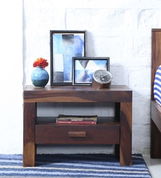 Acropolis Bed Side Table In Provincial Teak Finish