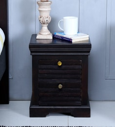 Bedside tables buy bedside tables online in india at best prices carleson solid wood bed side table in warm chestnut finish watchthetrailerfo