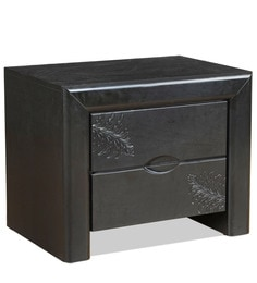 Bedside Table In Black Colour By Royal Oak