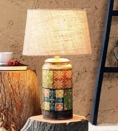 Buy indian ethnic table lamps online in india best prices pepperfry beige jute casey table lamp mozeypictures Choice Image