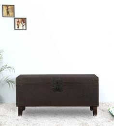 Belmont Linen Trunk In Warm Chestnut Finish By Woodsworth