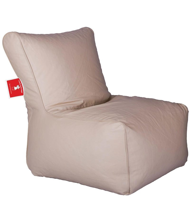 Bean Bag Chair with Beans in Cream Colour by Comfy Bean Bags