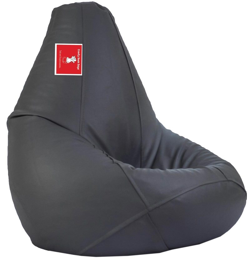 Bean Bag Cover in Dark Grey Colour by Comfy Bean Bags