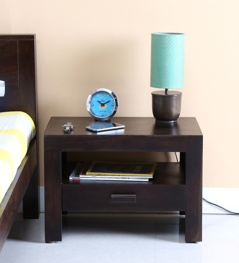 Acropolis Bed Side Table in Warm Chestnut Finish by Woodsworth