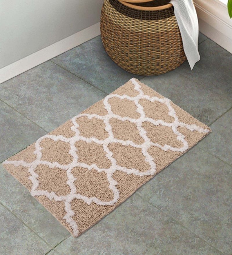 Beige 100% Cotton 20 x 32 Inch Mat by S9home by Seasons