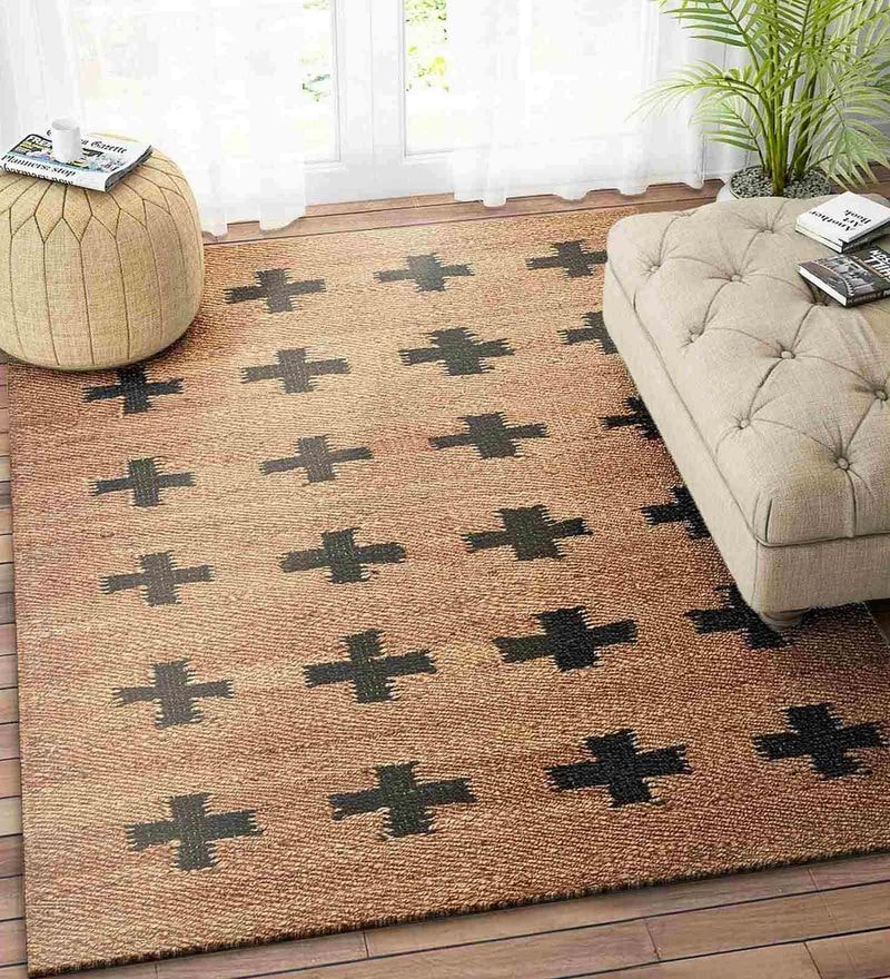 Beige Jute 72 x 48 Inch Carpet by Imperial Knots