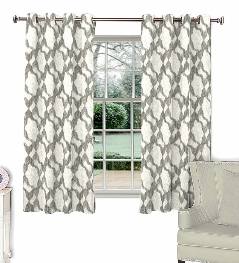 Beige Poly Cotton Window Curtain by Skipper