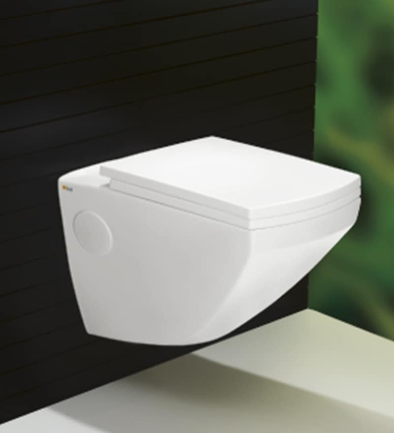 Bell White Ceramic Wall Mounted Water Closet (Model: 9002)