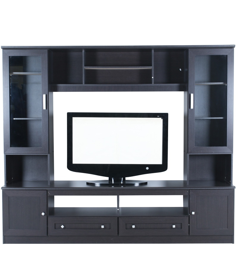 Buy Berlin Wall Unit in Black Colour by Royal Oak Online - Modern ...