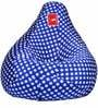 Bean Bag Cover in Polka Electric Blue Colour by Comfy Bean Bags