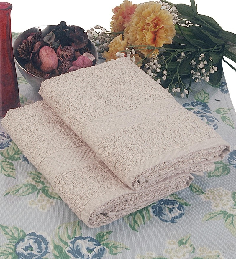 BIANCA Antique Terry Cotton Hand Towel - Set of 2