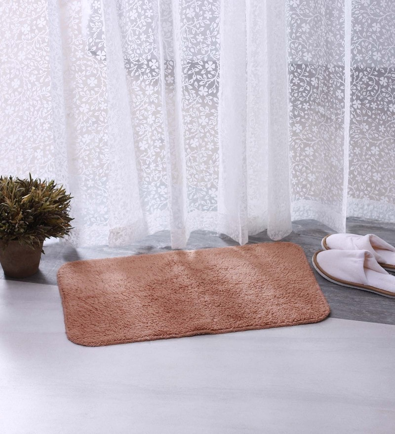 Bianca Brown 100% Cotton 16 X 24 Bath Mat