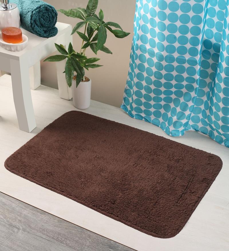 Bianca Browns Cotton 24 X 16 Bath Mat 1 Pc