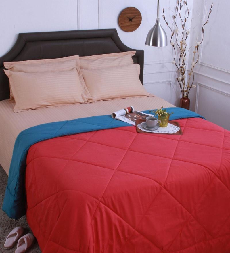 Bianca Multicolour Microfibre Queen Size Reversible Comforter