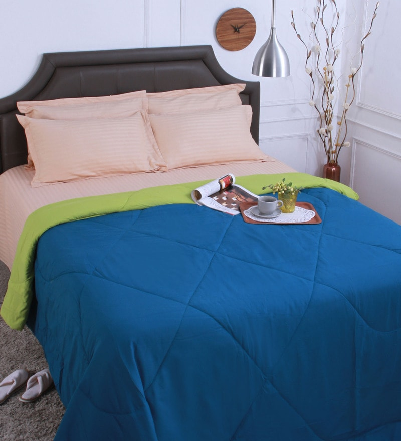 Bianca Multicolour Polyester Queen Size Reversible Comforter