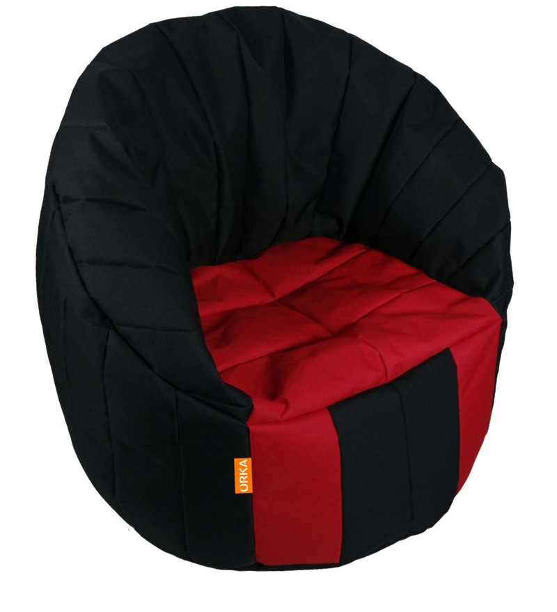 Big Boss XXXL Bean Bag Chair Cover in Black & Red Colour by Orka