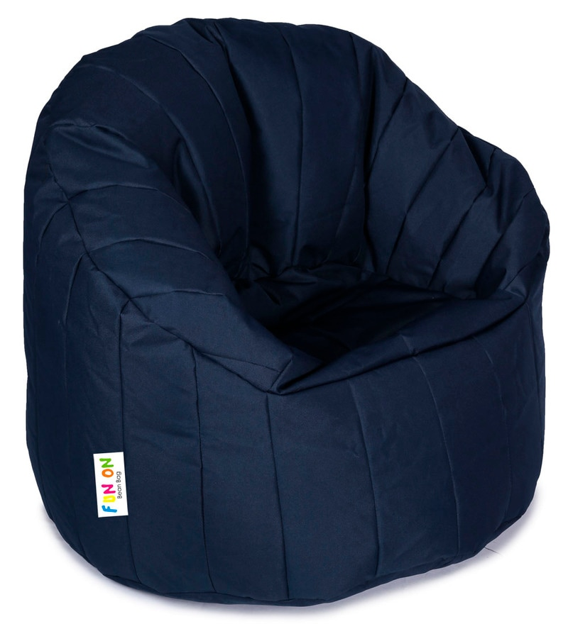 Big Boss XXXL Bean Bag Chair with Beans in Blue Colour by Orka