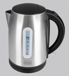 Black And Decker 1.7 Litres Grey Electric Kettle
