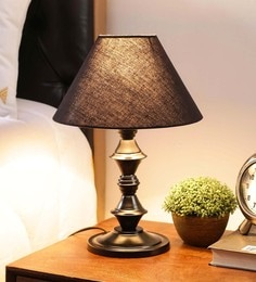 Black Cotton & Stiffener Table Lamp By New Era - 1672694