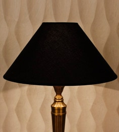 Lamp shades buy table lamp shades online in india pepperfry black cotton conical lamp shade aloadofball Image collections