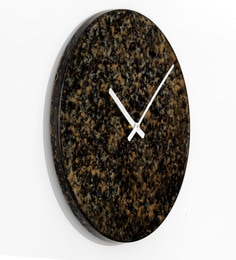 Black Metal Patina Finish Wall Clock