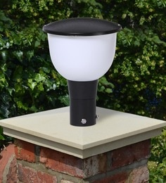 Black Mild Steel Outdoor Gate Light - 1614460