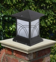 Black Mild Steel Outdoor Gate Light - 1614458