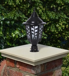 Black Mild Steel Outdoor Gate Light - 1614457
