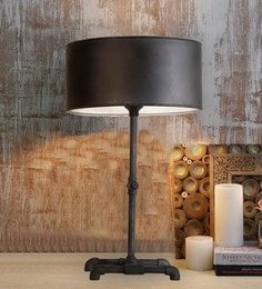 Black Mild Steel Table Lamp - 1644136
