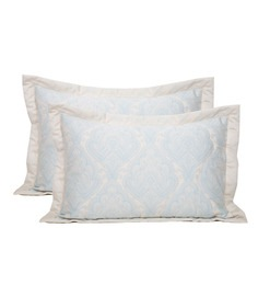 Blue 100% Cotton 20 X 30 Inch Pillow Cover