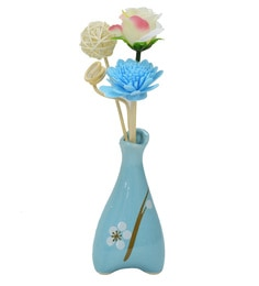 Blue Floral Reed Sticks Aroma Oil Diffuser