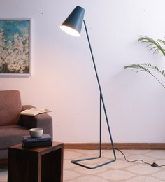 Blue Iron Floor Lamp