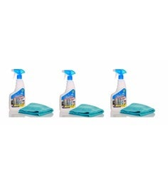Blueoxy Stainless Steel Cleaner & Polish 500Ml Bottle With One Microfiber Towel - Set Of 3