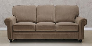 Blossom Three Seater Sofa In Brown Colour By Royal Oak