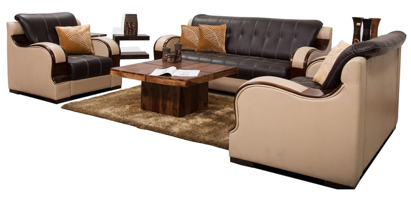 Buy Blackberry Sofa Set 3 2 1 In Black Amp Coffee Color By