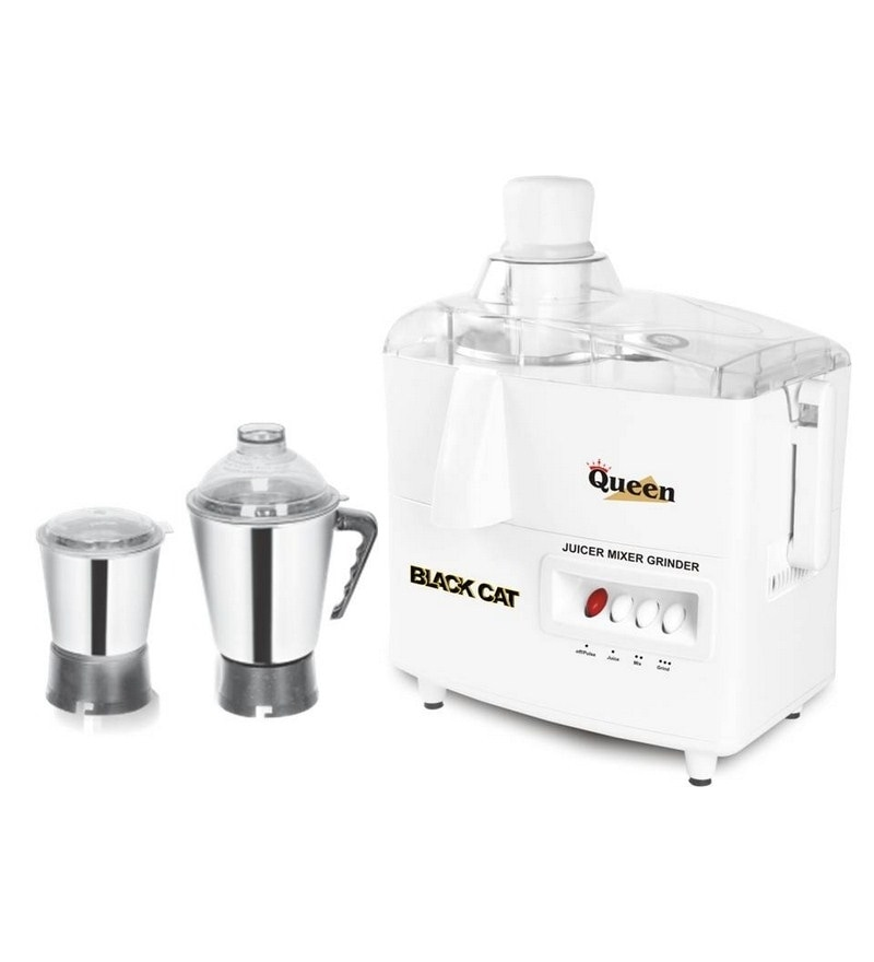 Black Cat QUEEN Juicer Mixer Grinder white
