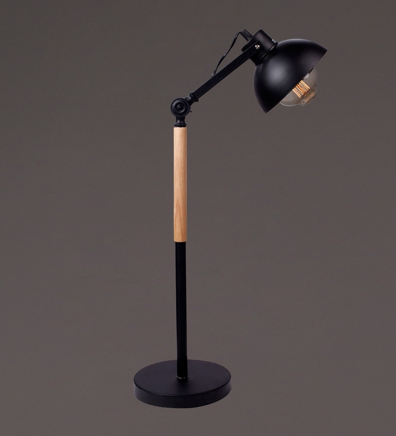 Black Metal Table Lamp by Voylite