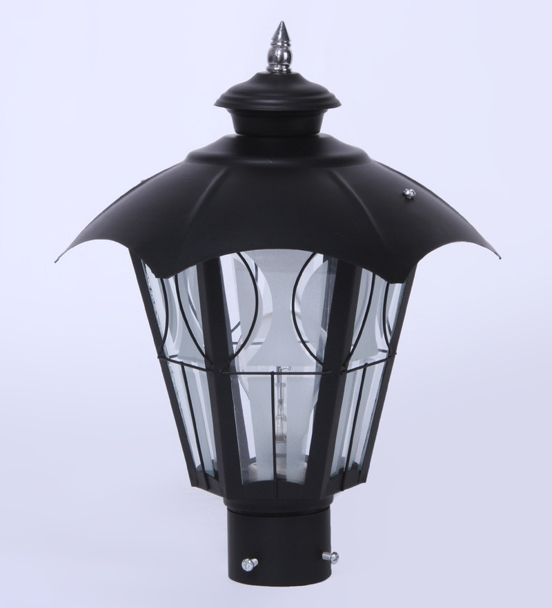 Black Mild Steel Outdoor Gate Light by Patco electricals