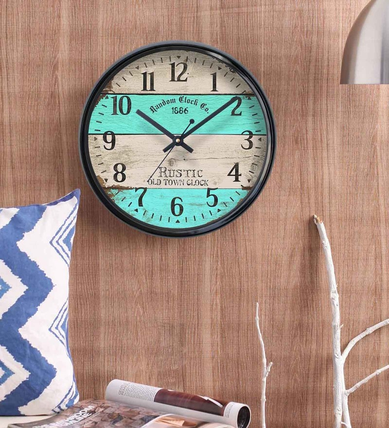 Black Plastic 12 x 2 x 12 Inch Cross Wall Clock by Random