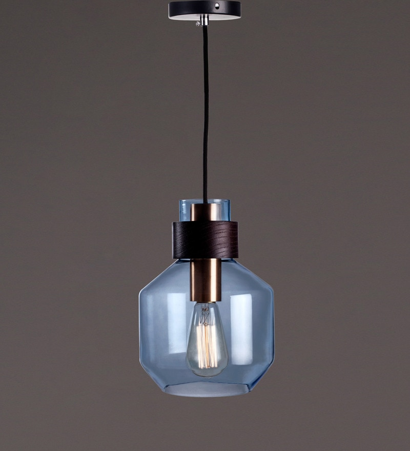 Blue Glass Pendant by Voylite