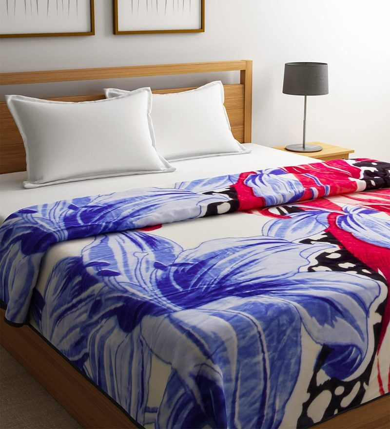Blue Polyester Queen Size Blanket by Raymond Home