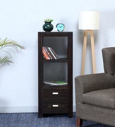 Oriel Book Shelf In Warm Chestnut Finish By Woodsworth
