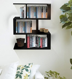 Boxy Multi-Purpose Wall Shelf In Black Matte Finish