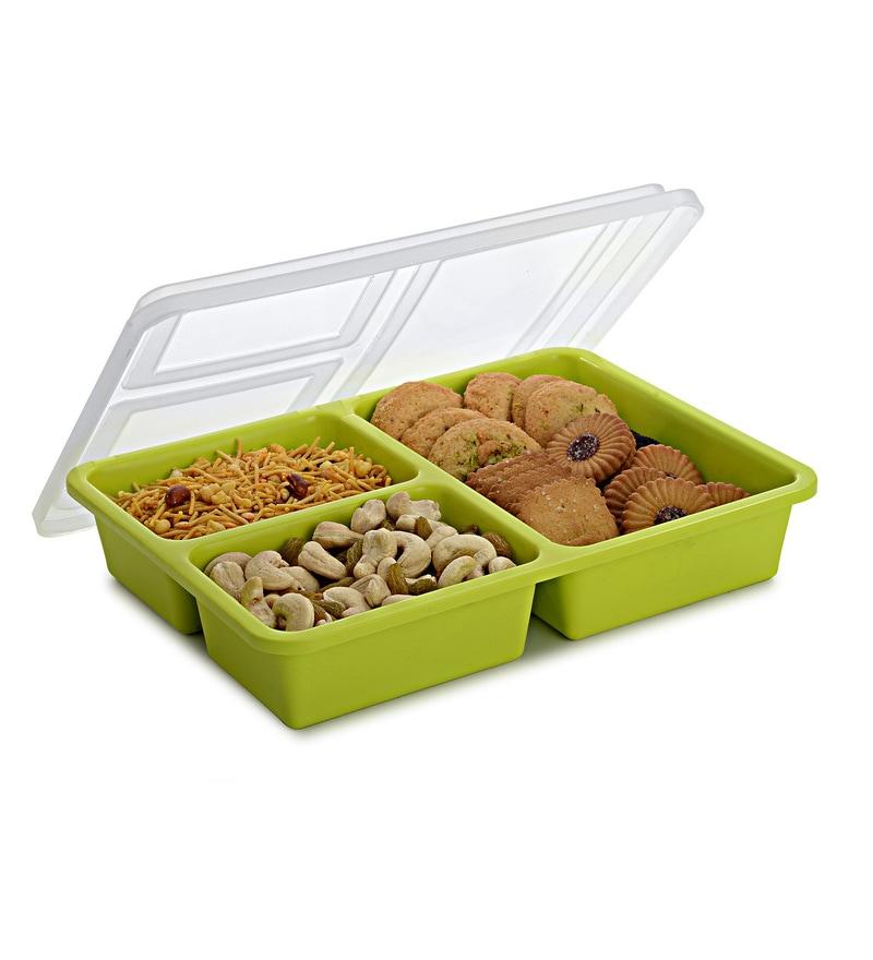 Boffiki Apple Green Rectangle 375 ML Smart Store Utility Box - Set of 2