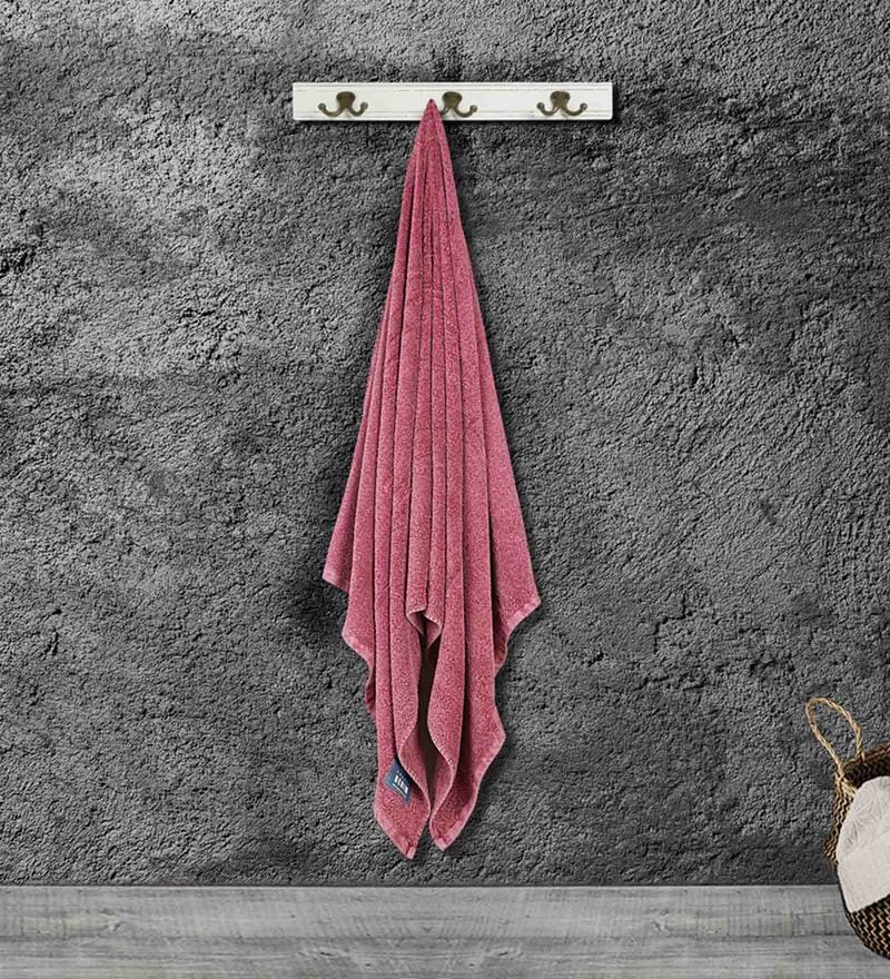 Maroon Cotton 35 X 15 Inch Gym Towel by Bombay Dyeing