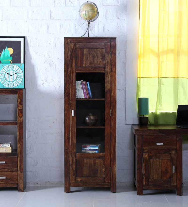 Oriel One Door Book Case In Provincial Teak Finish By Woodsworth