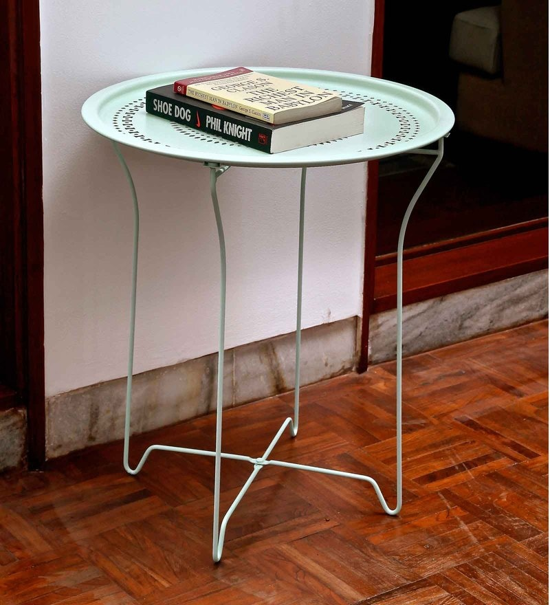 Bordeaux Steel Folding Coffee Table in Mint by Hauser