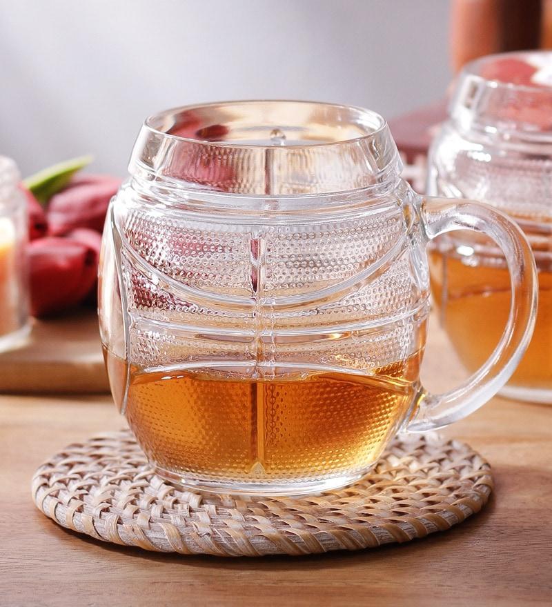 Borgonovo Basket Glass 500 ML Mug - Set Of 6